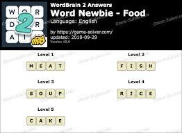 wordbrain 2 word newbie food answers