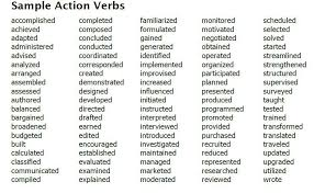 List Of Power Verbs For Resumes Power Verbs Forme Teachingmes