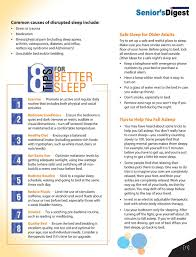 winter edition mon causes of disrupted sleep include stress or trauma cation safe sleep for older