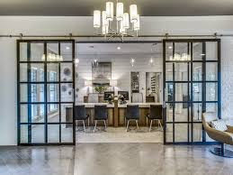 Modern office space Warehouse Glass Barn Door For Modern Office Spaces The Business Journals Glass Barn Door For Modern Office Spaces Project Space Plus