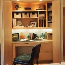 hidden home office. concealed closet home office with built-in desk hidden
