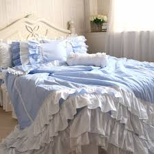 blue gingham duvet cover set