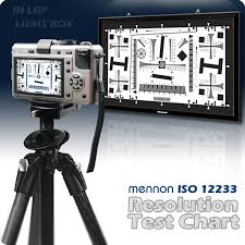 Video Camera Test Chart Mennon Iso12233 Resolution Test Chart In Lgp Light Box