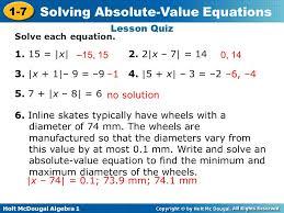 lesson quiz solve each equation 1 15 x 2 2