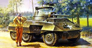 Light Armored Car M8 Pinturas De Tanques Segunda Guerra Mundial 1944 M8 Light