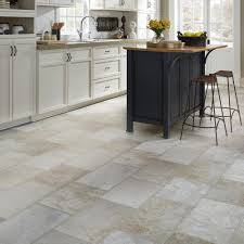 Kitchen Stone Floor Resilient Natural Stone Vinyl Floor Upscale Rectangular Large