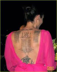 Angelina Jolie Sak Yant татуировки татуировка графическая Et