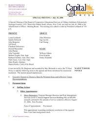 July 10SpecialMeeting - Capital Region BOCES