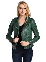 doma colored leather jacket