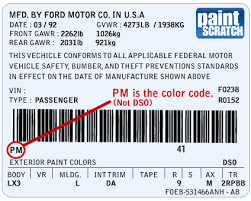 2013 Ford Color Chart Ford Touch Up Paint Color Code And Directions For Ford