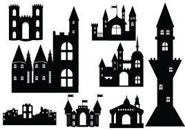 Vectors Silhouettes Castle Silhouette Vector Definition Of Medieval Vectors