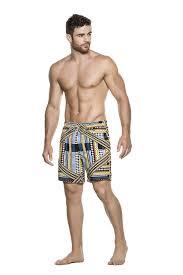 Mens Designer Swim Trunks 2017 Sporty Monokini Burgundy Agua Bendita Mens Swimwear