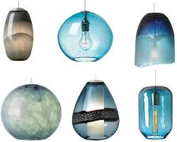 blue glass pendant light dining room sustainablepals buoy regarding lights design 7