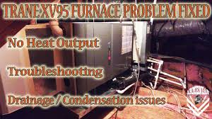 Trane Xr95 Pilot Light Trane Xv95 Furnace Problem Fixed No Heat Output Troubleshooting Drainage Condensation Issues