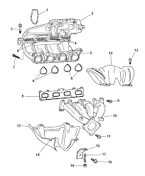 2006 chrysler pt cruiser manifolds intake exhaust diagram i2101899