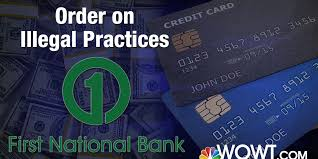 A charge card requires the balance to be paid in full having too many credit cards may hurt your credit rating. First National Bank Ordered To Pay 32 25 Million For Illegal Credit Card Practices