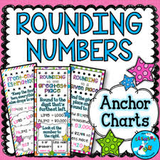 Rounding Rules Chart Rounding Numbers Anchor Chart Worksheets Teaching