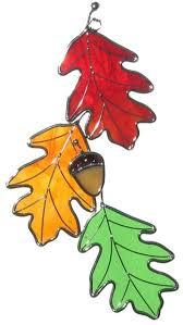 Oak Leaf Triple With Acorn Sun Catcher