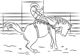 Small Picture Saddle Bronc Rodeo coloring page Free Printable Coloring Pages