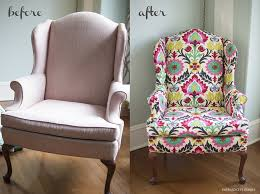 Upholstered Wingback Chair Brilliant Diy Emerald City Diaries For 5  Furniture: ...