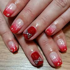 26+ Red and Silver Glitter Nail Art Designs , Ideas | Design ...