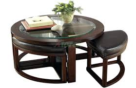 Table With Hidden Chairs Coffee Table Coffee Table 10 Round With Ottomans Underneathround