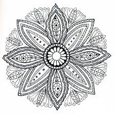 Small Picture Mandala Art Coloring Pages anfukco