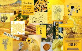 Aesthetic Laptop Yellow Wallpapers ...
