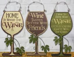 3 wine signs decorative wood and