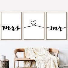 mr mrs love prints wedding sign