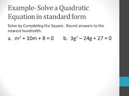 5 example solve a quadratic