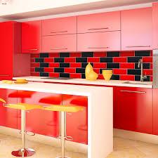 red tiles for kitchen backsplash home design within kitchen