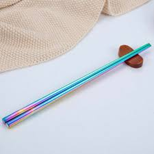 1 Pair Colorful Chopsticks Metal <b>Stainless</b> Steel Reusable <b>Luxury</b> ...