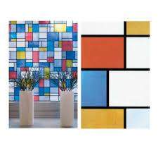 Fensterfolie Mondriaan Adhesive Klebefilm Bleiglas Real