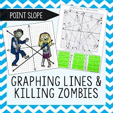 graphing lines zombies point slope form