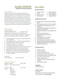 Best Administrative Assistant Resume Administration Template Free ...