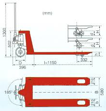 electric pallet jack dimensions. ma50 hand pallet truck dimensional drawing electric jack dimensions t