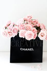 chanel bag flowers styled stock photography boss stock photography beauty gers stock
