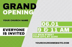 Grand Opening Invitations Grand Opening Invite Green