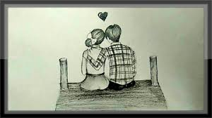 Pencil Sketches Of Couples Cute Love Drawings Of Romantic Couple In Pencil Pencil