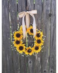 Image Themed Sunflower Wreath Summer Wreath Front Door Decor Fall Wreath Wreath With Walmart Amazing Spring Deals On Sunflower Wreath Summer Wreath Front Door