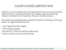 interview questions for executive assistant sample executive secretary cover letter dew drops