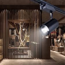 track rail lighting. 20W 30W LED Track Light COB Lights Clothing Store Ceiling Mounted Spotlights Rail Lamp Lighting F
