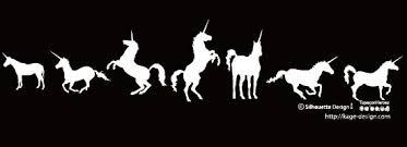 幻の一角獣ユニコーンのシルエット シルエットデザイン