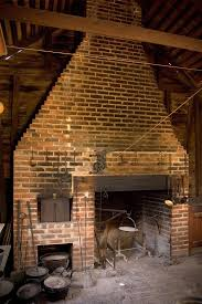 country shabby rustic chic cooking hearth fireplace with a brick oven