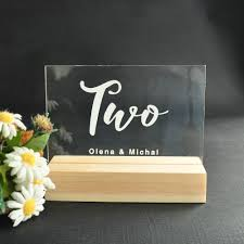 Table Number Design Us 4 99 Personalized Wedding Table Numbers Custom Table Number Acrylic Numbers Wedding Table Decor For Wedding Decor In Party Direction Signs