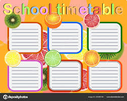 Graphic Design Timetable School Timetable Weekly Curriculum Design Template Scalable