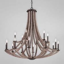 metal and wood chandelier. Aden Star Ltd Llc Dba 1020 Decor Arcata Bronze Iron And Wood 18 Pertaining To Wooden Metal Chandelier 7