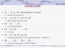 homework 1 9 11 45 worksheets in packet 4 4 1 chemical equations