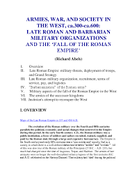 Pdf Armies War And Society In The West Ca 300 Ca 600